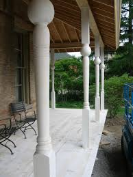 victorian wraparound porch parts reproduction buildingartisansguild new posts installed ready for rail assemblies