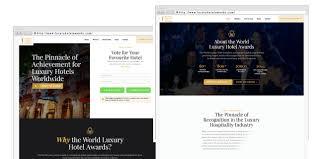 world luxury hotel awards launches brand new website world