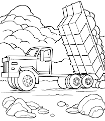 trucks coloring pages truck crane blaze page superhero blue tanker