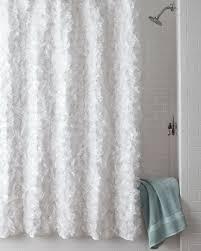 White Shower Curtains White Flower Power Shower Curtain Neiman