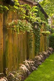 Backyard Landscaping Ideas For Privacy by 31 Best Decorating A Vinyl Fence Images On Pinterest Backyard
