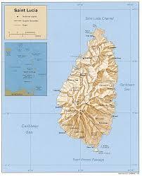 Us Physical Map Saint Lucia Physical Map U2022 Mapsof Net