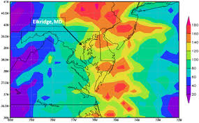 rainfall totals map nasa measures irene s record totals from space wired