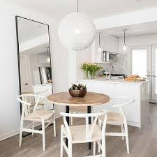 Large Dining Room Mirrors - black leaning dining room mirror design ideas