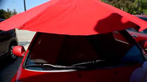 Portable Awnings For Cars Home Made Shade For My Car Youtube