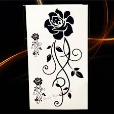 fake tattoo henna butterfly waterproof transfer removable tattoo