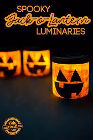 spooky jack o lantern luminaries kids activities