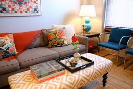 Upholstered Ottoman Coffee Table Fabric Covered Coffee Tables Rascalartsnyc