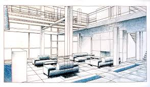 Interior Design Sketches by Perspectives For Interior Design Perspectives Free Printable