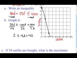 6 6 d two variable linear inequality word problems youtube
