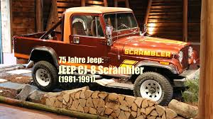 scrambler jeep 75 jahre jeep der jeep cj 8 scrambler 1981 1991 youtube