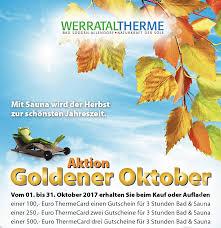 Therme Bad Sooden Allendorf Aktion Goldener Oktober Werrataltherme Bad Sooden Allendorf
