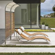 Outdoor Chaise Lounges Tommy Bahama Tres Chic 2 Person Teak Patio Chaise Lounge Set W