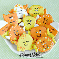 Decorated Halloween Sugar Cookies by Sugar Dot Cookies Handmade Decorated Sugar Cookies For Every