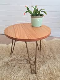 round hairpin coffee table this little number is made with a tasmanian oak table top and
