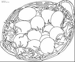 fantastic eggs with easter basket coloring page with easter eggs
