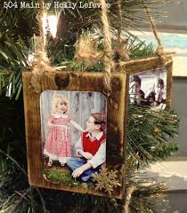 wood scrap photo ornaments hometalk
