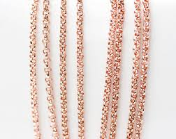 rose gold chain necklace images Rose gold chain etsy jpg