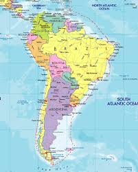 Latin America Map by Political Map Of South America 1200 Px Nations Online Project