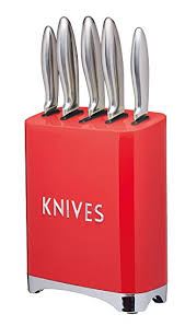 kitchen craft knives kitchencraft lovello retro 5 stainless steel knife set and