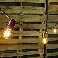 globe string lights brown wire led commercial globe string lights 37 ft brown wire g50 bulbs