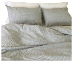 White Stripe Duvet Cover Black And White Ticking Striped Duvet Cover Set Handmade Linen