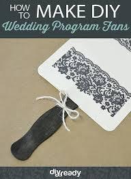 wedding program ideas diy how to make wedding program fans diy wedding program fans
