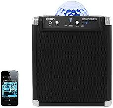 ion portable speaker system with party lights amazon com ion party rocker portable bluetooth speaker system with