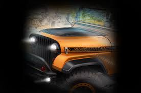 orange jeep 2016 mopar teases its 2016 sema dodge chrysler jeep u0026 ram models
