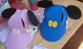 como hacer gorras de fomix del cars gorras de foami de mickey y minnie manualidades para cumpleaños