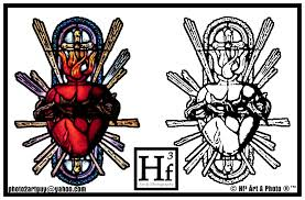 sacred heart tattoo flash by big skivies on deviantart