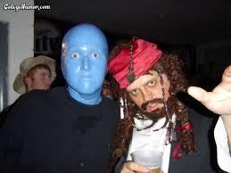Blue Man Halloween Costume Blue Man Group Solo Captain Jack Sparrow Halloween