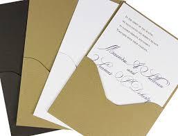 pocket folds wood grain pocket invitations cards