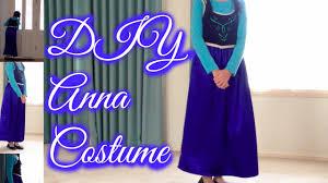 Anna Frozen Costume Diy Anna Frozen Costume Youtube
