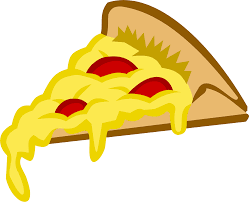 clipart pizza slice in tango colors