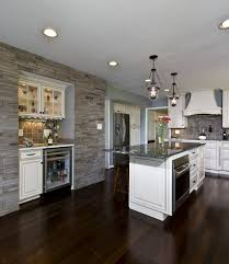 mahogany wood floor wall bench seat bring kitchen to