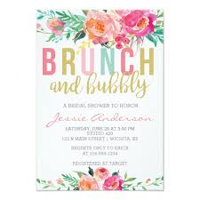 wedding shower invitation colorful brunch bubbly bridal shower invitation zazzle