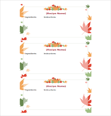 17 recipe card templates free psd word pdf eps format
