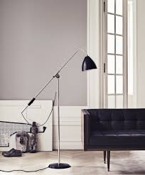 bestlite bl4 floor lamp charcoal black and brass by gubi