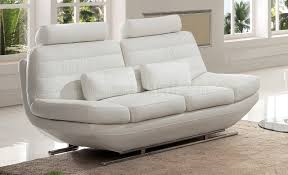 White Leather Sofa Bed Sofa In White Italian Leather By Pantek W Options