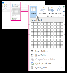 outlook 2013 design office 365 outlook 2016 outlook 2013 add a table to a message
