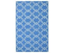 moroccan trellis scroll tile royal blue rug 5 u0027 x 8 u0027