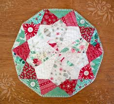 quilted square table toppers epp table topper pattern lillyella