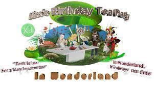 alice wonderland birthday tea party 4 kids salon