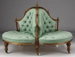 Conversation Settee Antique Victorian Chair Foter