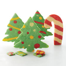 cutout christmas tree cookies
