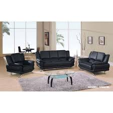 Contemporary Black Leather Sofa Contemporary Black Leather Sofa Rutger Black