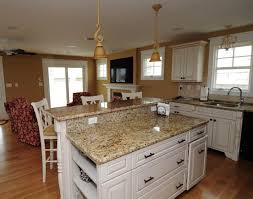 Kitchen Island With Granite Countertop St Cecelia Granite Countertop White Kitchen Cabinets With