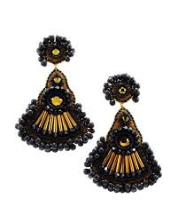 black dangle earrings black dangle earrings black statement earrings gold black