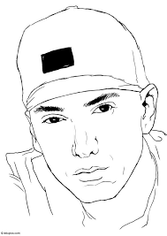 eminem coloring pages coloring